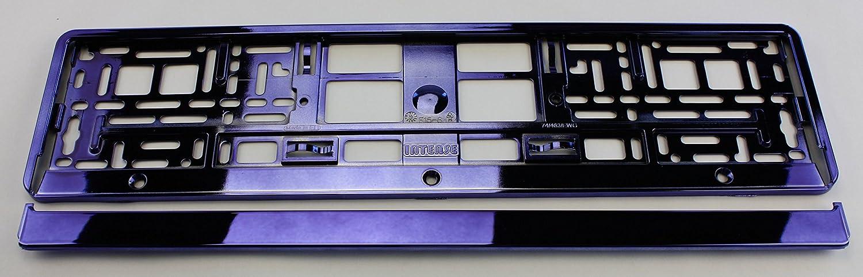 ZentimeX Z788687 Kennzeichenhalter Kennzeichenhalterung Lila glä nzend Hochglanz fü r DE-Standard Kennzeichen 1 Stü ck
