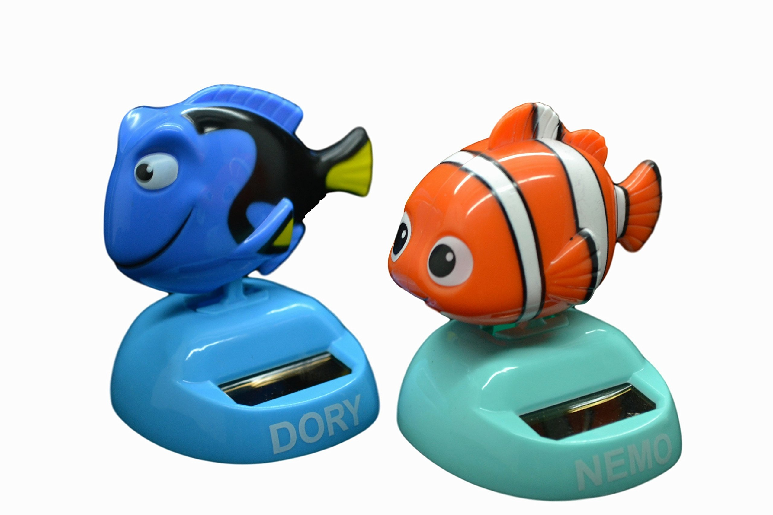 Disney Pixar Finding Dory Two Solar Powered Mini Toys. Nemo & Dory 2.7'' H. Limited Edition.
