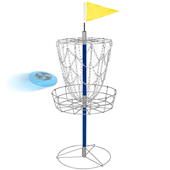 Best Choice Products Portable Frisbee Disc Golf Basket Target