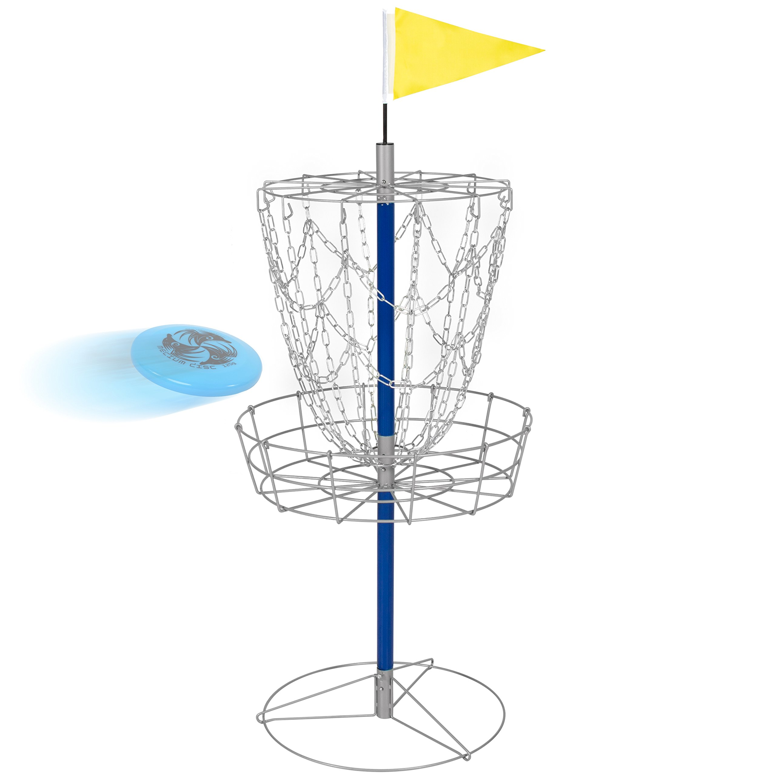 Best Choice Products Portable Disc Golf Basket Double Chains Steel Frisbee Hole by Best Choice Products