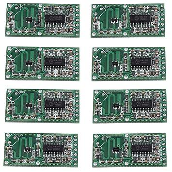 tmallshop rcwl-0516 microondas Radar Detector de movimiento humano Sensor interruptor módulo 5 - 7 M (Pack de 10): Amazon.es: Electrónica
