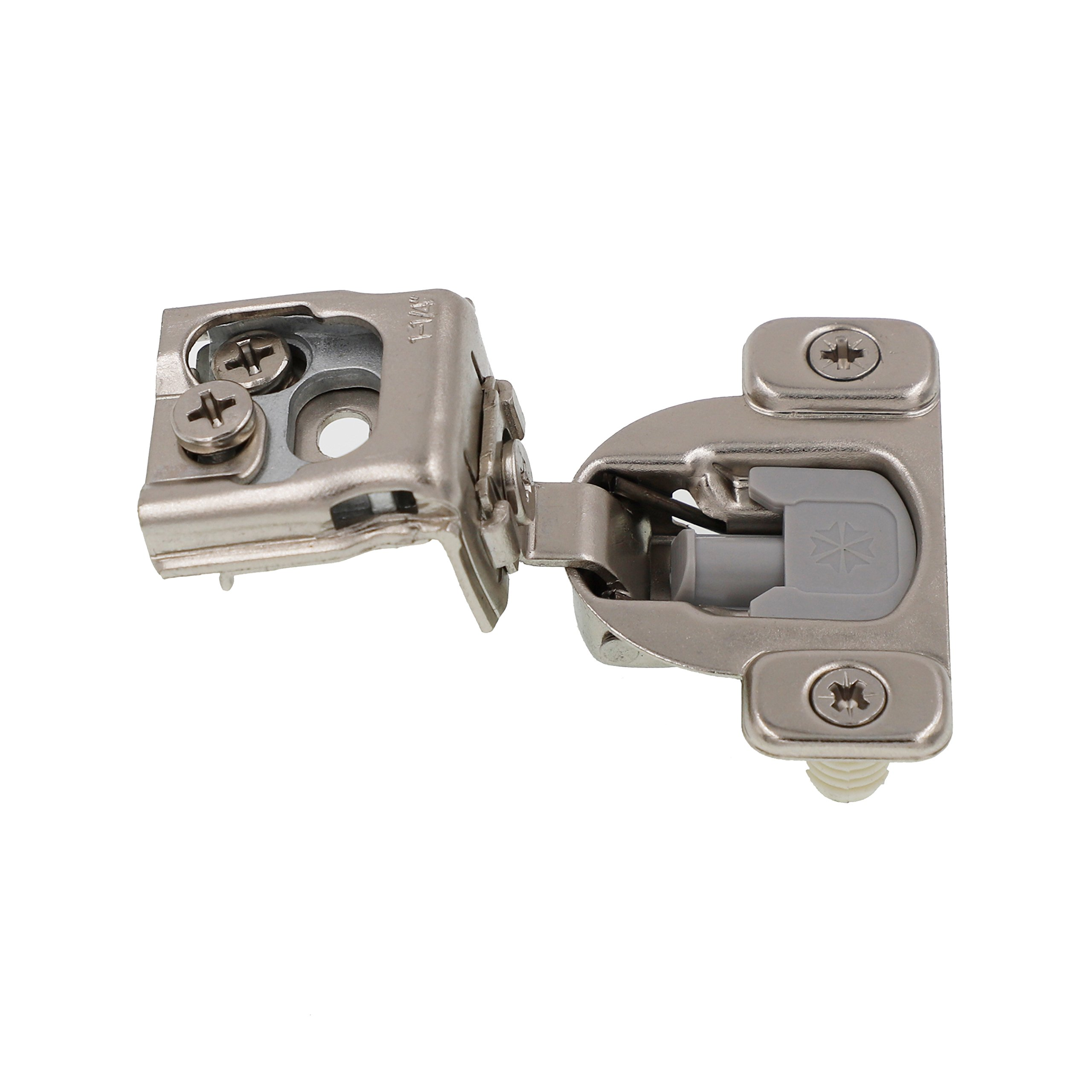 1-1/4'' Overlay Soft Close Face Frame 105° Compact Cabinet Hinge (50) by DecoBasics (Image #2)