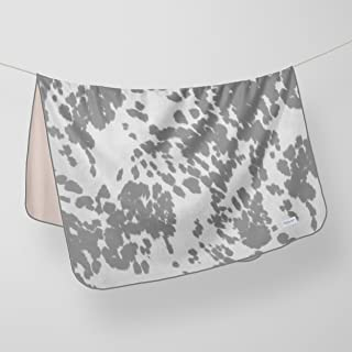 product image for Glenna Jean Crib Quilt Baby Blanket Super Soft & Warm Cow Animal Print for Boys & Girls, White/Grey