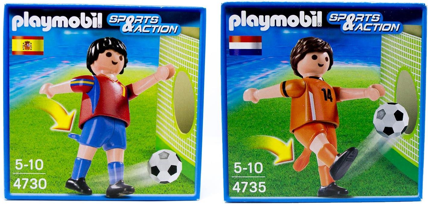 Playmobil Futbol - España VS Holanda - Pack 2 figuras: Amazon.es ...