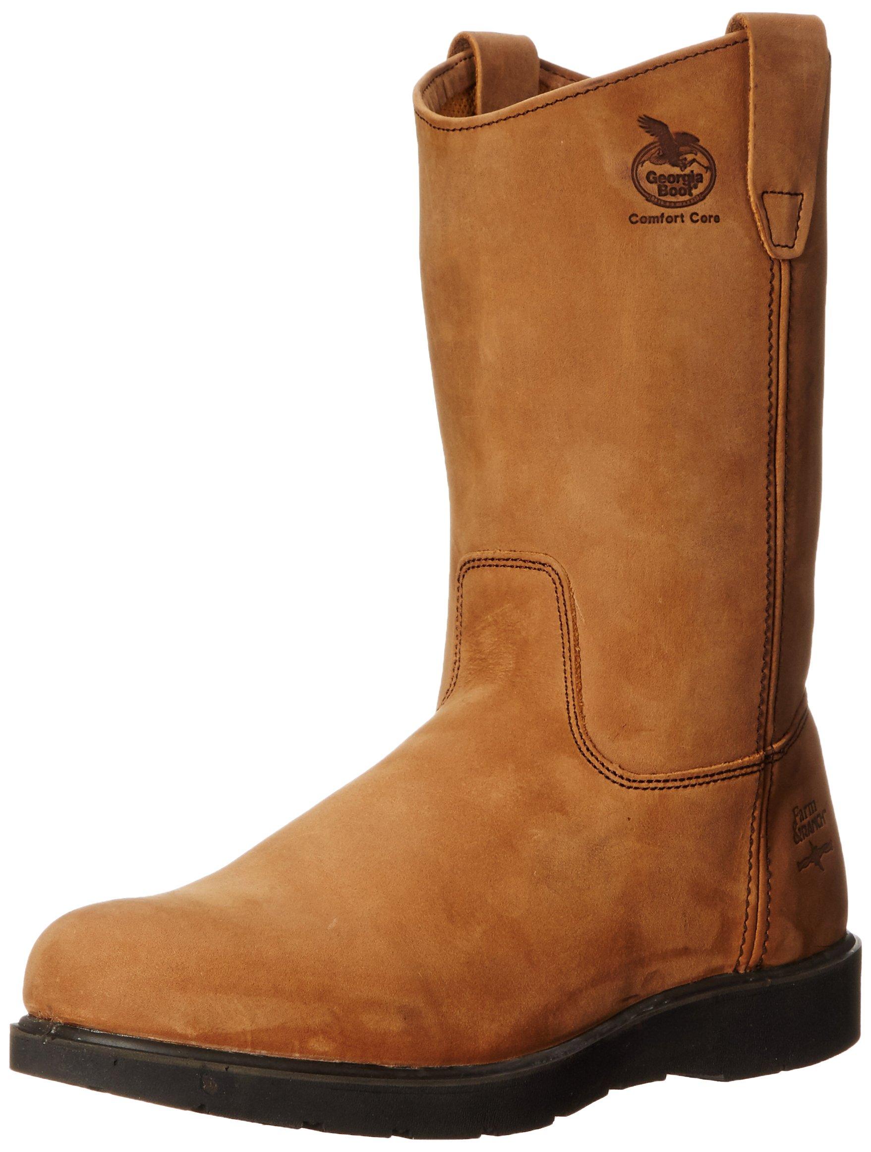Georgia Boot Men's Wellington Brown Leather Work 12 D(M) US