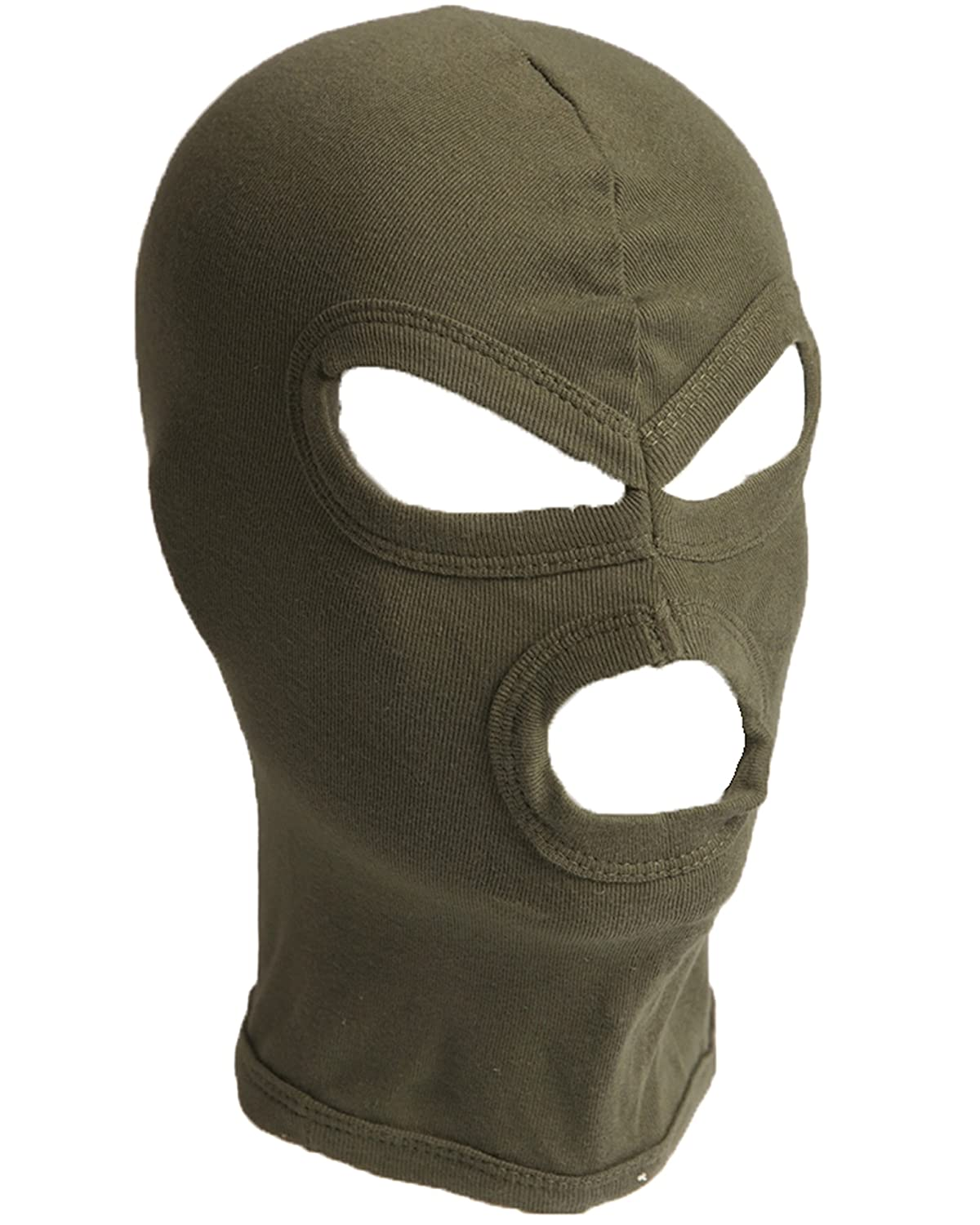 Deluxe 100% Cotton Short 3 Hole Under Helmet Balaclava Head Pice
