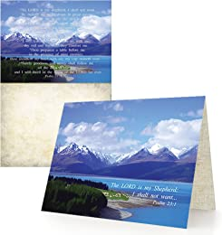 The Lord Is My Shepherd - Box of 12 Cards and 12 Envelopes