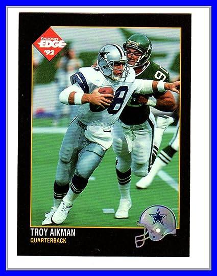 b44ceddcbd8 Amazon.com: 1992 Collector's Edge #31 Troy Aikman UCLA Bruins HOF ...