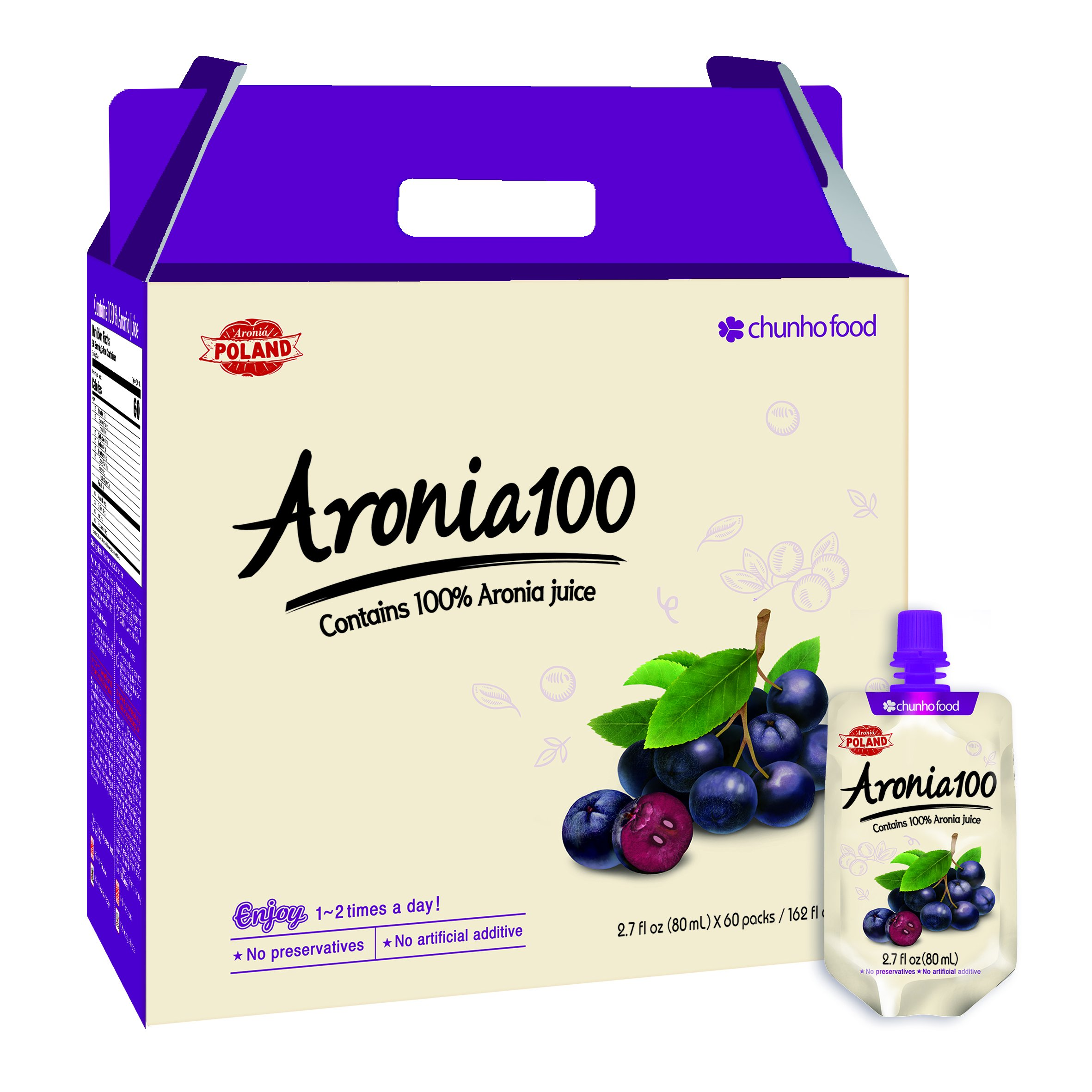 Chunho Food Aronia 100 Juice (60 Pack)