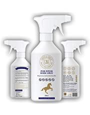 C&G Pets | Pure Power Horse Fly Spray | 8 Hour Sweat Resistant Citronella Spray | Soothes and Hydrates itchy Skin | Repels Biting Insects | 100% Organic Natural 500ml