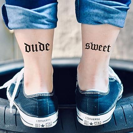 Dude Sweet Where's My Car Temporary Tattoo Sticker (Set of 2