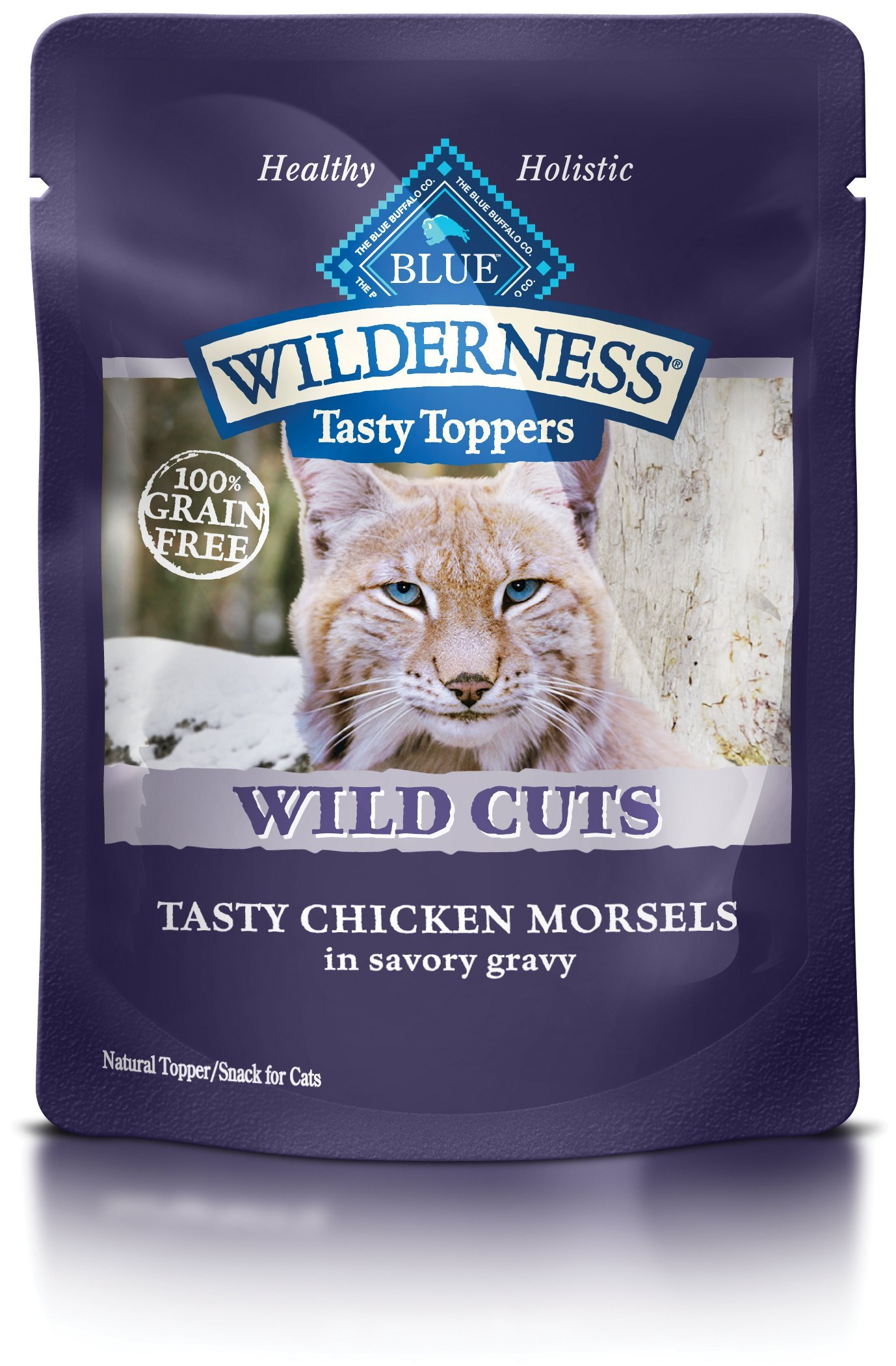 BLUE Wilderness Tasty Toppers Wild Cuts Grain Free Tasty Chicken Morsels in Savory Gravy Wet Cat Food 3-oz (pack of 24) by Blue Buffalo