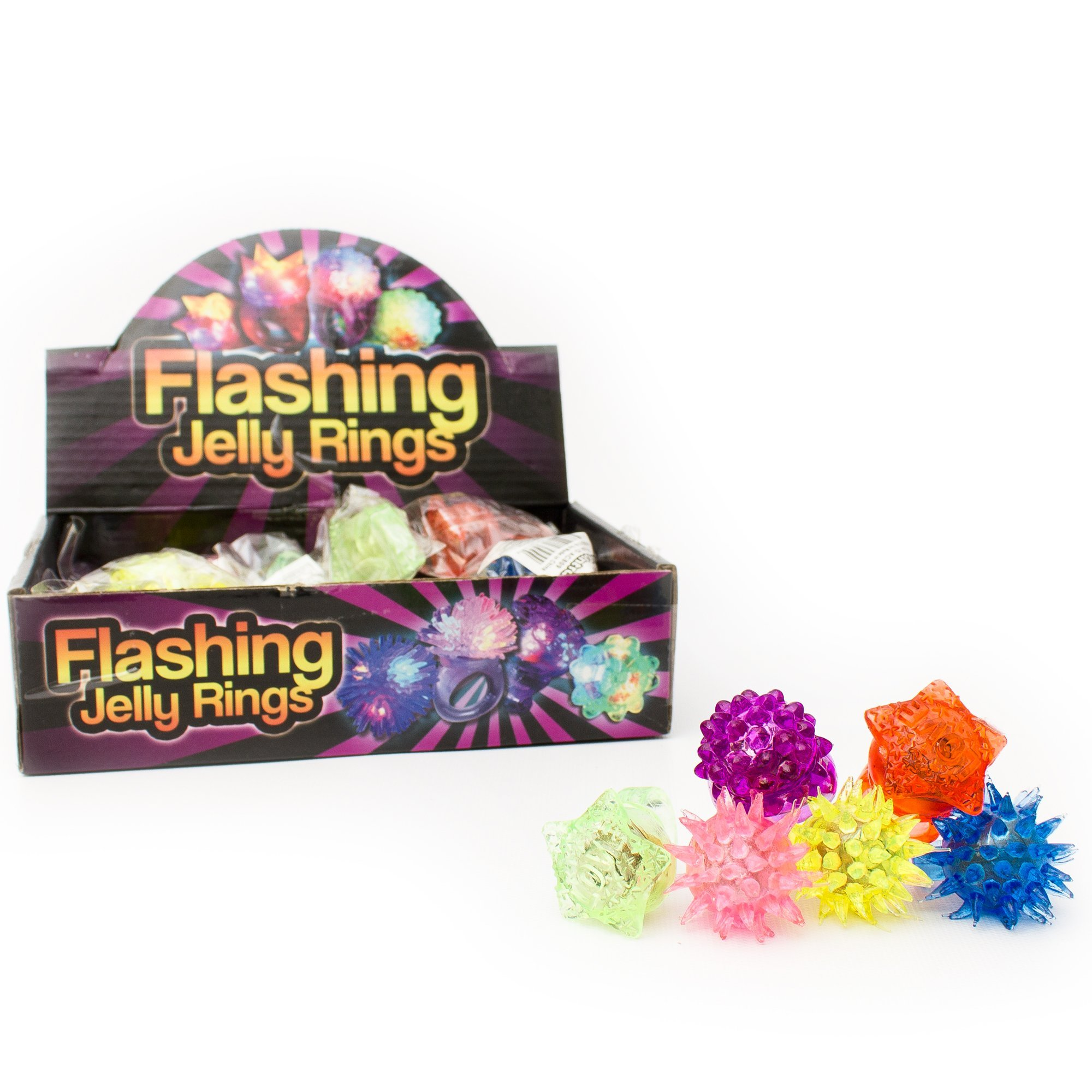 Fun Central AC809 96 Counts LED Light up Flashing, Blinky Jelly Rings,Assorted Styles and Colors - Kids Party Supply and Toys Birthday Party Favors, Giveaways, Goodie Bag Fillers, Gifts, Prizes by Fun Central (Image #5)