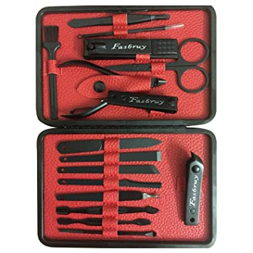 Amazon.com : Mens Manicure Set - Nail Clippers 16 In 1 Nail Kit ...