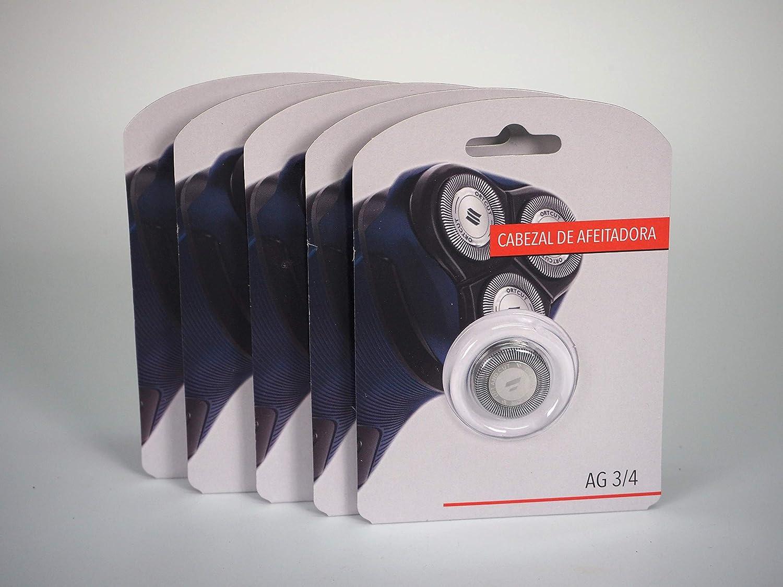 Sanfor 80663 Caja 10 Paquete con 5 Blíster recambio cabezal de ...