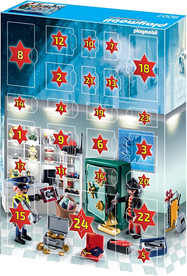 PLAYMOBIL - Calendario de adviento Robo en la joyería (9007): Amazon.es: Juguetes y juegos