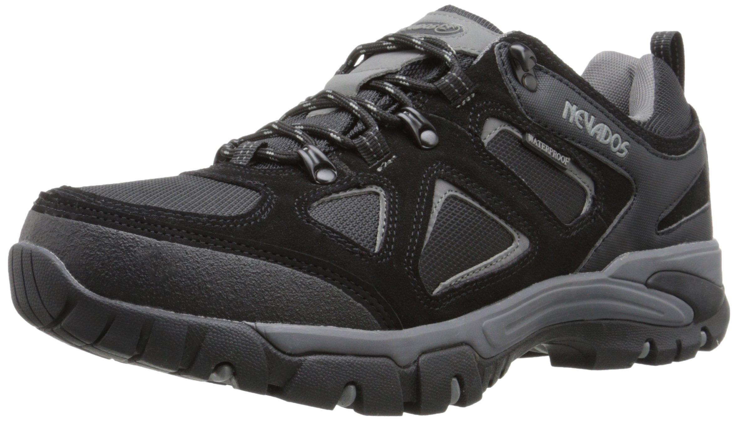 Nevados Men's Spire Low Waterproof Hiking Shoe, Black/Grey, 9 M US