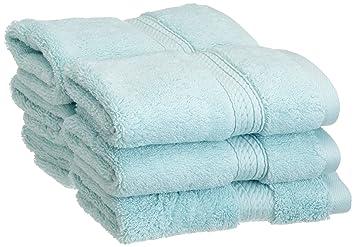 Superior - Juego de Toallas de tocador de algodón de 900 g/m2, Color Espuma Marina, 6 Piezas: Amazon.es: Hogar