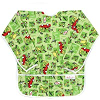 Bumkins Waterproof Long Sleeved Art Smock, verde (Green Eggs), 5""
