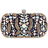 Clocolor Crystal Clutch Evening Bags and Clutches for Women Beaded Rhinestone Purse