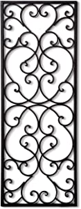"T.Y. Cooper LLC Wrought Iron 32"" x 12"" Rectangle Wall Grille"