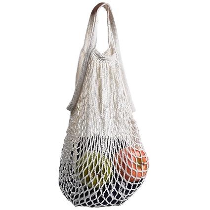 a8b2298db Amazon.com: Cosmos Cotton Net Shopping Tote Ecology Market String Bag  Organizer (White): Kitchen & Dining