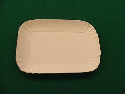 Bandejas Blancas cartón N ° 10 Mis.51 x 37 Horno Pizzeria Bar Pastelería rosticceri