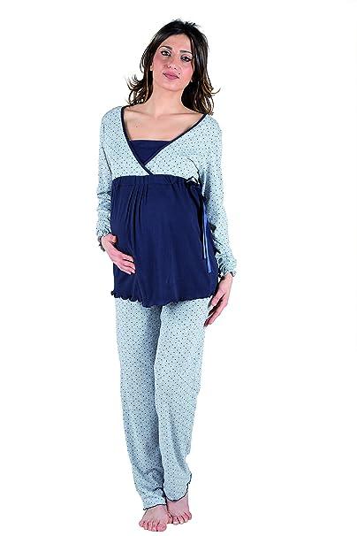 Premamy - pijamas de maternidad Para embarazo y la lactancia Pre-Post Natal de manga
