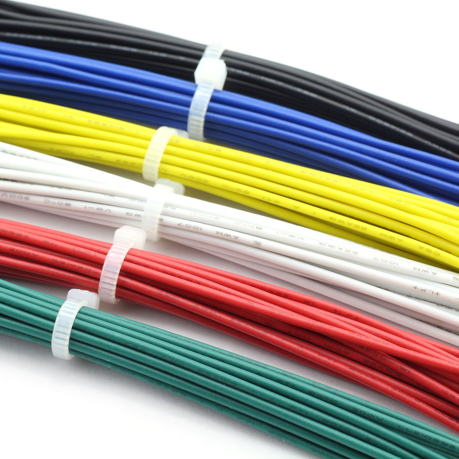 Magic/&Shell 120pcs 20CM 24AWG Double Tinned Jumper Wire Welding Lead Tin Plated Electronic Copper Wire 6 Color Red Black Blue Green White Yellow