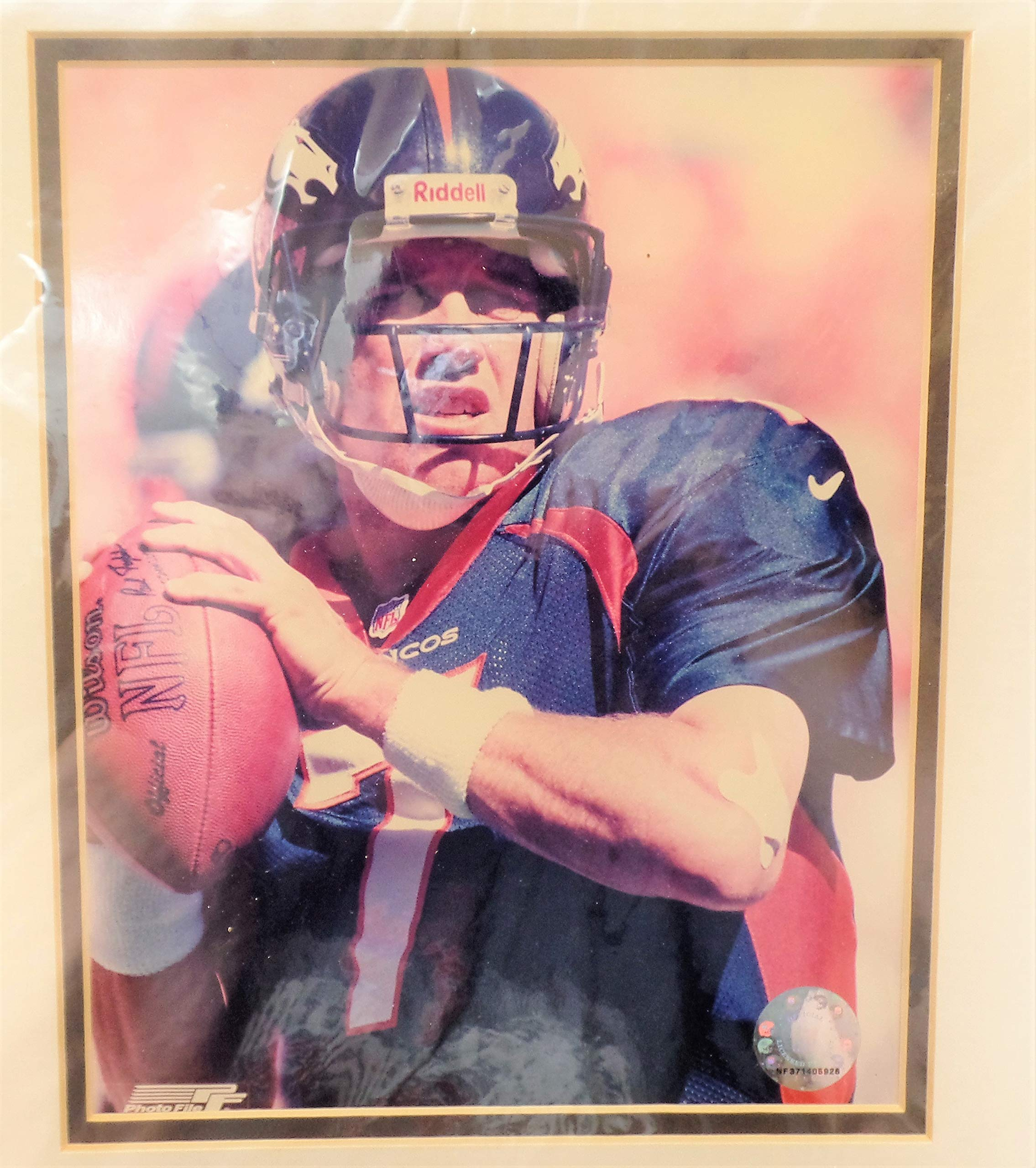 """Picture Set of John Elway (Denver Broncos), Made By Photo File Framed 12"""" x 16"""" (Free Shipping)"""