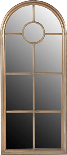 Creative Co-Op Arched Distressed Metal Frame Wall Mirror