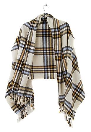 Echarpe Beige Plaid Wrap Levi´s echarpe en tricot (taille unique - beige) b2e0a5b6ed1