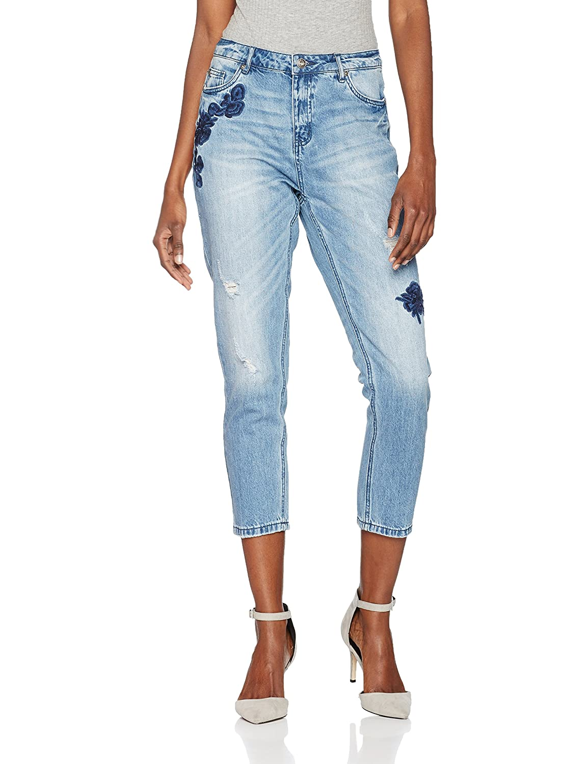 ONLY Onltonni Bf Dnm Emb Jeans Bj, Mujer