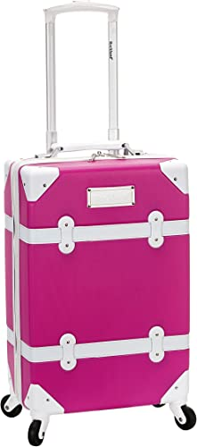 Rockland Stage Coach 20-Inch Rolling Trunk, Magenta