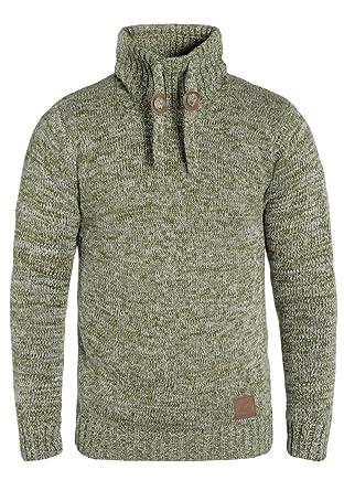 0a7d0e5920a3 Solid Phirance Herren Winter Pullover Strickpullover Grobstrick Pullover  mit Tubeneck Stehkragen, Größe S