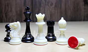 StonKraft 4 King Height - Tournament Chess Pieces (with Two Extra Queens) Chessmen Staunton Chess Coins - Ideal for Professional Chess Players