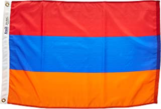 product image for Annin Flagmakers Model 221252 Armenia Flag Nylon SolarGuard NYL-Glo, 2x3 ft, 100% Made in USA to Official United Nations Design Specifications