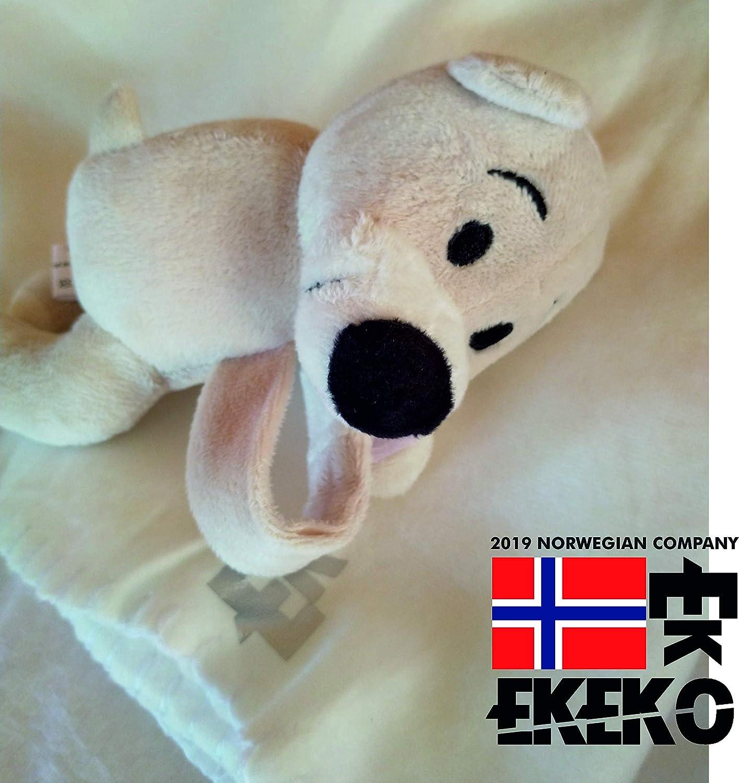 EKEKO POLAR BEAR WITH KIDS BLANKET Oso con cierre tipo adherente en las manitas. Azul Manta polar Infantil con osito