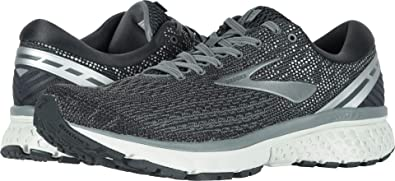 fa3a6f0ac92 Image Unavailable. Image not available for. Color  Brooks Men s Ghost 11  Ebony Grey Silver ...