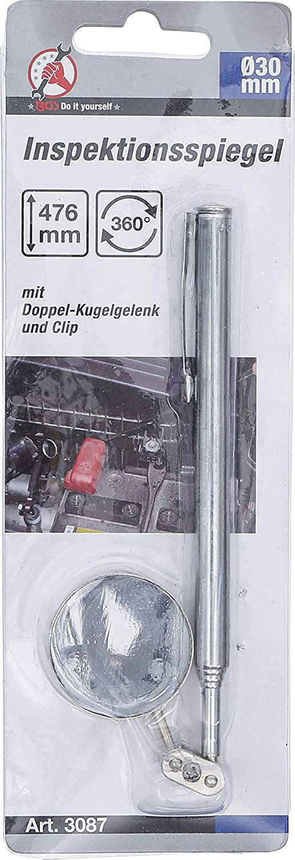 Bgs Diy 3087 Inspektionsspiegel Ø 30 Mm 190 476 Mm Kontrollspiegel Teleskopspiegel Ausziehbar Baumarkt