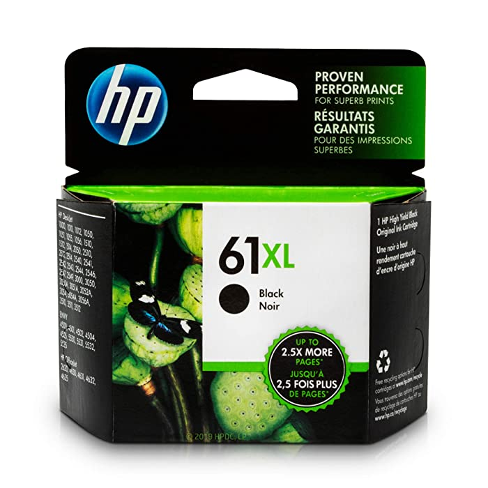 HP 61XL Black Ink Cartridge Black (CH563WN) for HP Deskjet 1000 1010 1012 1050 1051 1055 1056 1510 1512 1514 1051 2050 2510 2512 2514 2540 2541