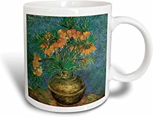 3dRose mug_126468_2 Still Life with Fritillarias By Vincent Van Gogh Impressionist Ceramic Mug, 15-Ounce
