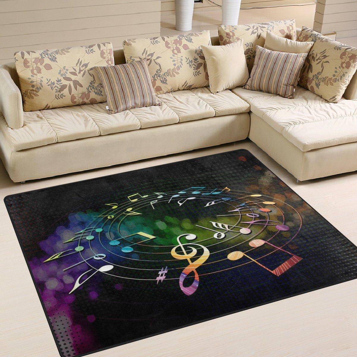 ingbags Super Weiche Moderne Musik Noten, ein Wohnzimmer Teppiche Teppich Schlafzimmer Teppich für Kinder Play massiv Home Decorator Boden Teppich und Teppiche 160x 121,9cm, multi, 80 x 58 Inch