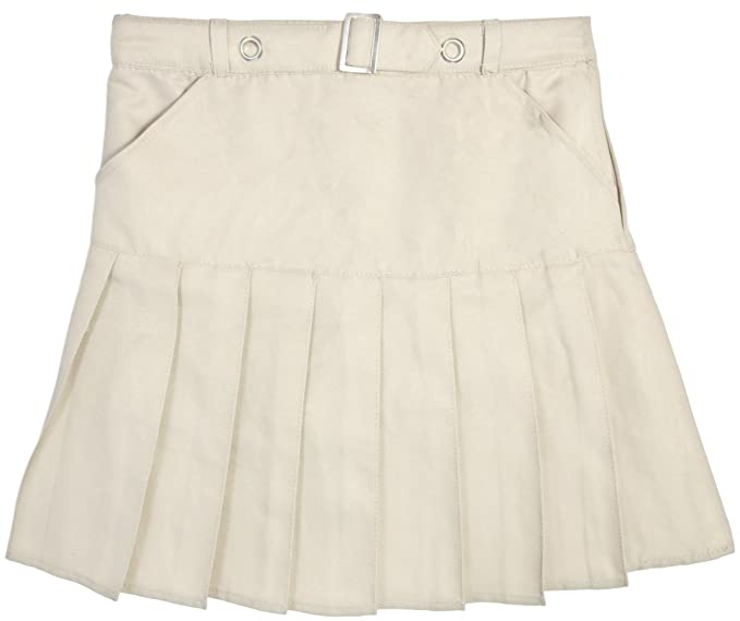8c84c20a91 Beverly Hills Polo Club Girls School Uniform Belted Double Pleat Scooter,  Khaki, Size 6X