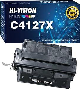 1-Pack HI-Vision Compatible HP 27X C4127X 4127X Toner Cartridge for HP Laserjet 4000 4000n 4000t 4000tn 4000se 4050 4050n 4050t 4050tn 4050se Printer (Black)