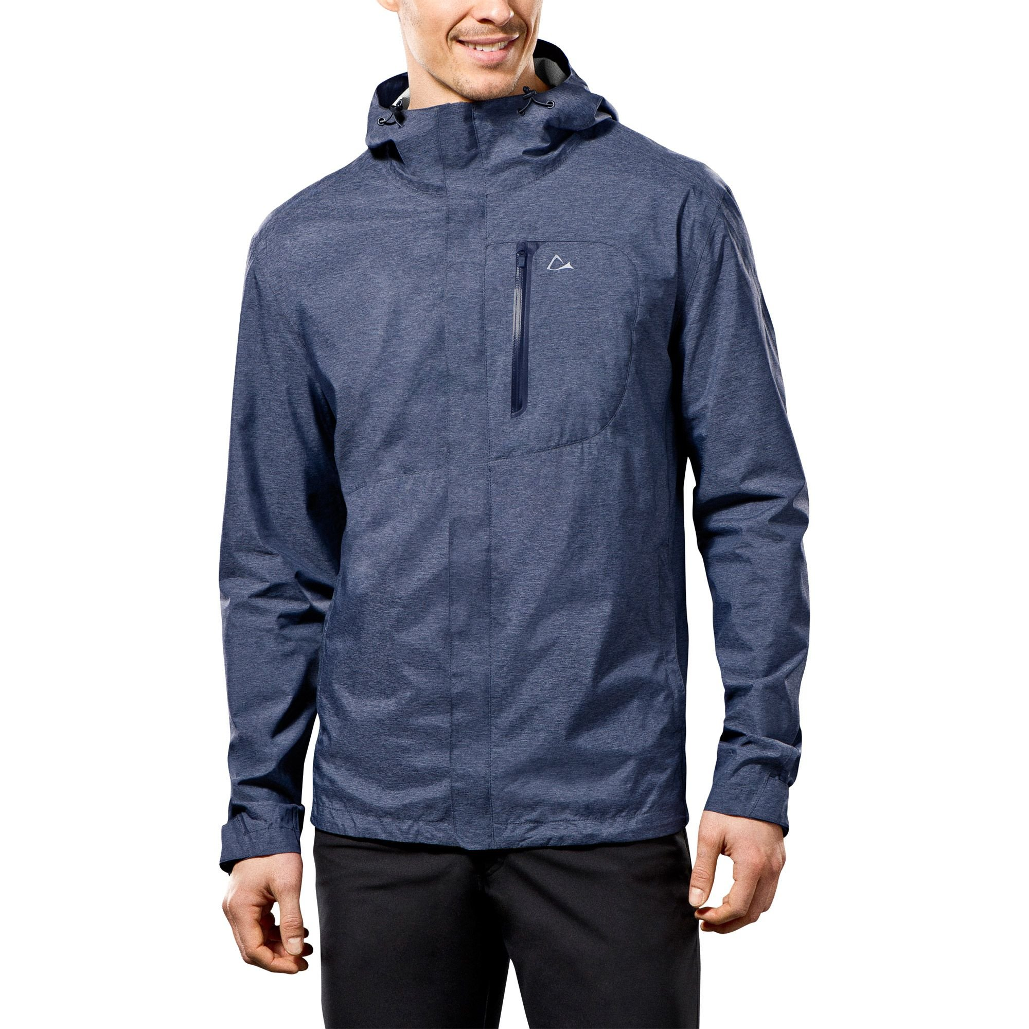 Paradox Men's Waterproof & Breathable Rain Jacket, X-Large, Heather Blue
