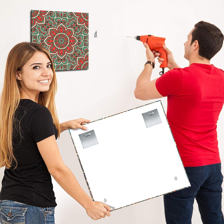 2-er Set Alu Dibond und Acrylglasbild Befestigungsset komplett f/ür Bilder und Spiegel Spiegelhalterung Bildaufh/änger Haftblech Wand-Halterung