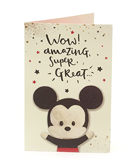Amazon Disney Mickey Mouse Birthday Card Office Products