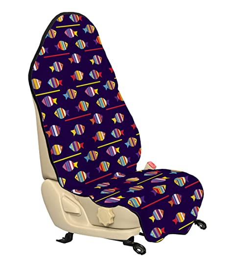 Pleasant Amazon Com Ambesonne Fish Car Seat Hoody Rainbow Patterned Pabps2019 Chair Design Images Pabps2019Com