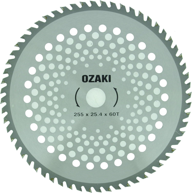 Greenstar 3488 - Hoja adaptable para desbrozadora (255 x 25,4 mm, 60 dientes de punta de carburo)